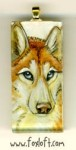 Red, White and Blue Husky Pendant