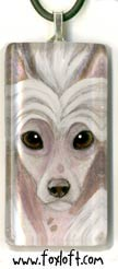 Chinese Crested Portrait Pendant