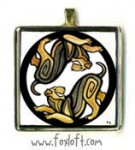 Yin-Yang Airedale Pendant