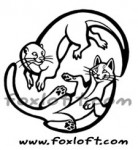 Yin Yang Cat and Otter Tattoo