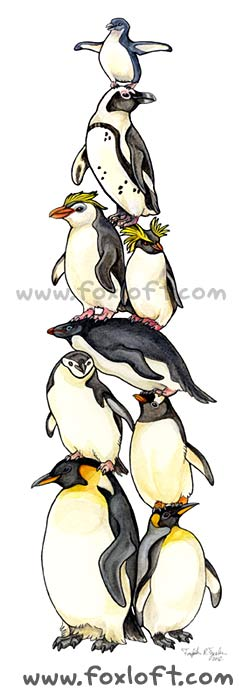Bird Stack - Penguins