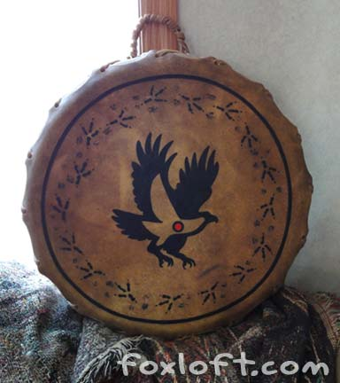 Eagle Tracks Totem Drum