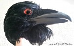 Realistic raven mask