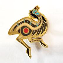 Gold Emu Pin