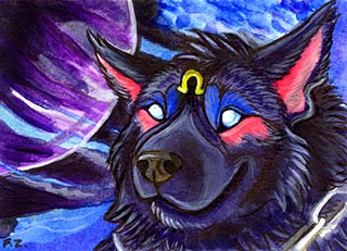 Bloodhound ACEO