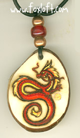 Fire Dragon Pendant