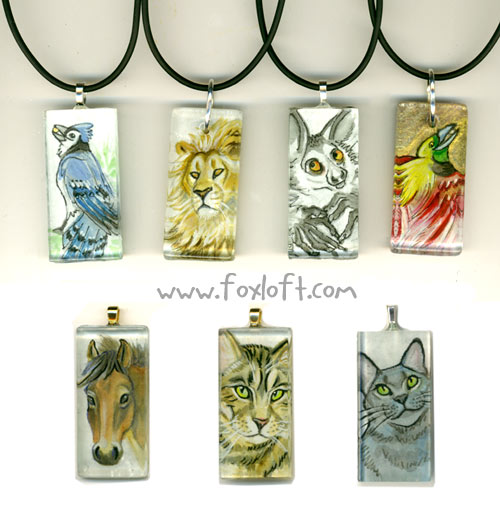 Sumi Glass Pendants - Group 10