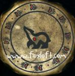 Bear Glyph Drum Sioux